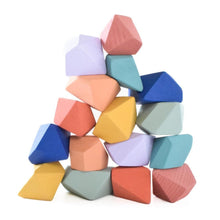 Load image into Gallery viewer, Confetti Rock Blocks (Set of 16) - Wood Wood Toys Canada's Favourite Montessori Toy Store