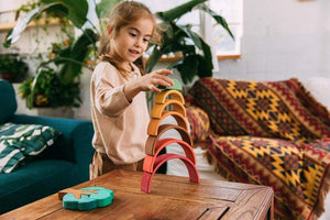 Deluxe Small Rainbow Stacker by Avdar Toys - Wood Wood Toys Canada's Favourite Montessori Toy Store