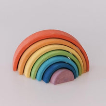 Load image into Gallery viewer, Deluxe Small Rainbow Stacker by Avdar Toys - Wood Wood Toys Canada's Favourite Montessori Toy Store