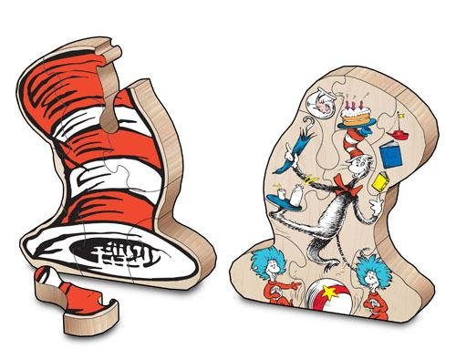Dr. Seuss: Cat in the Hat Wooden Stacking Puzzle - Wood Wood Toys Canada's Favourite Montessori Toy Store