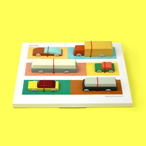 Duotone Cars Set by Floris Hovers - Wood Wood Toys Canada's Favourite Montessori Toy Store