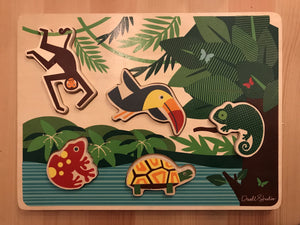 DwellStudio Toucan Puzzle - Wood Wood Toys Canada's Favourite Montessori Toy Store