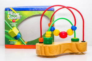 Educo Zig Zag Zoom Bead Maze (Previously Loved) - Wood Wood Toys Canada's Favourite Montessori Toy Store
