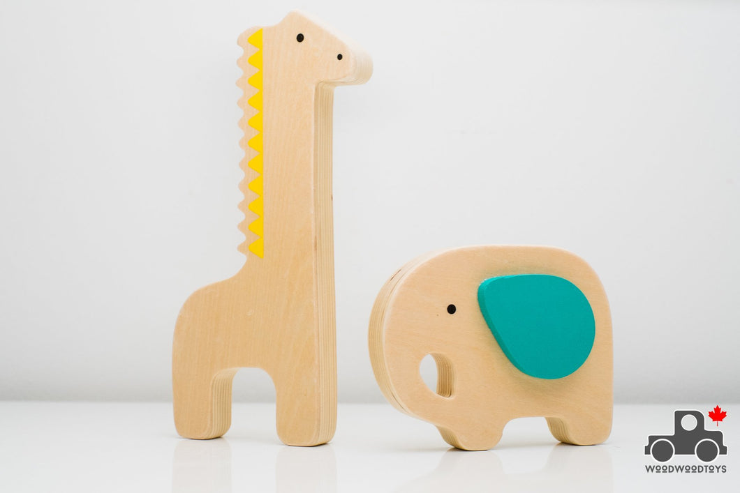 Elephant and Giraffe - Wood Wood Toys Canada's Favourite Montessori Toy Store