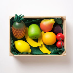 Erzi Assorted Wooden Fruits - Play Food Made in Germany - Wood Wood Toys Canada's Favourite Montessori Toy Store