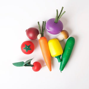 Erzi Assorted Wooden Vegetables - Play Food Made in Germany - Wood Wood Toys Canada's Favourite Montessori Toy Store