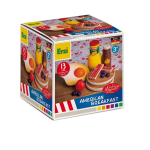 Erzi North American Breakfast Set - Play Food Made in Germany - Wood Wood Toys Canada's Favourite Montessori Toy Store
