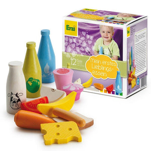 Erzi Shop Assortment for Youngest - Play Food Made in Germany - Wood Wood Toys Canada's Favourite Montessori Toy Store