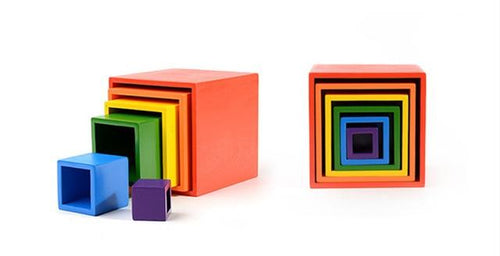 Exclusive Wood Nesting Stacking Boxes - Wood Wood Toys Canada's Favourite Montessori Toy Store