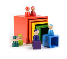 Load image into Gallery viewer, Exclusive Wood Nesting Stacking Boxes - Wood Wood Toys Canada's Favourite Montessori Toy Store
