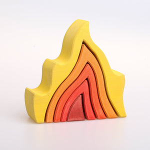 Fire Stacker by Avdar Toys - Wood Wood Toys Canada's Favourite Montessori Toy Store