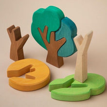 Load image into Gallery viewer, First Forest Wooden Tree Set by Avdar Toys - Wood Wood Toys Canada's Favourite Montessori Toy Store