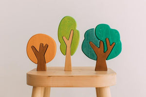 First Forest Wooden Tree Set by Avdar Toys - Wood Wood Toys Canada's Favourite Montessori Toy Store
