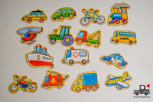 Load image into Gallery viewer, Fun Factory Wooden Vehicle Magnet Set (15 Pieces) - Wood Wood Toys Canada's Favourite Montessori Toy Store