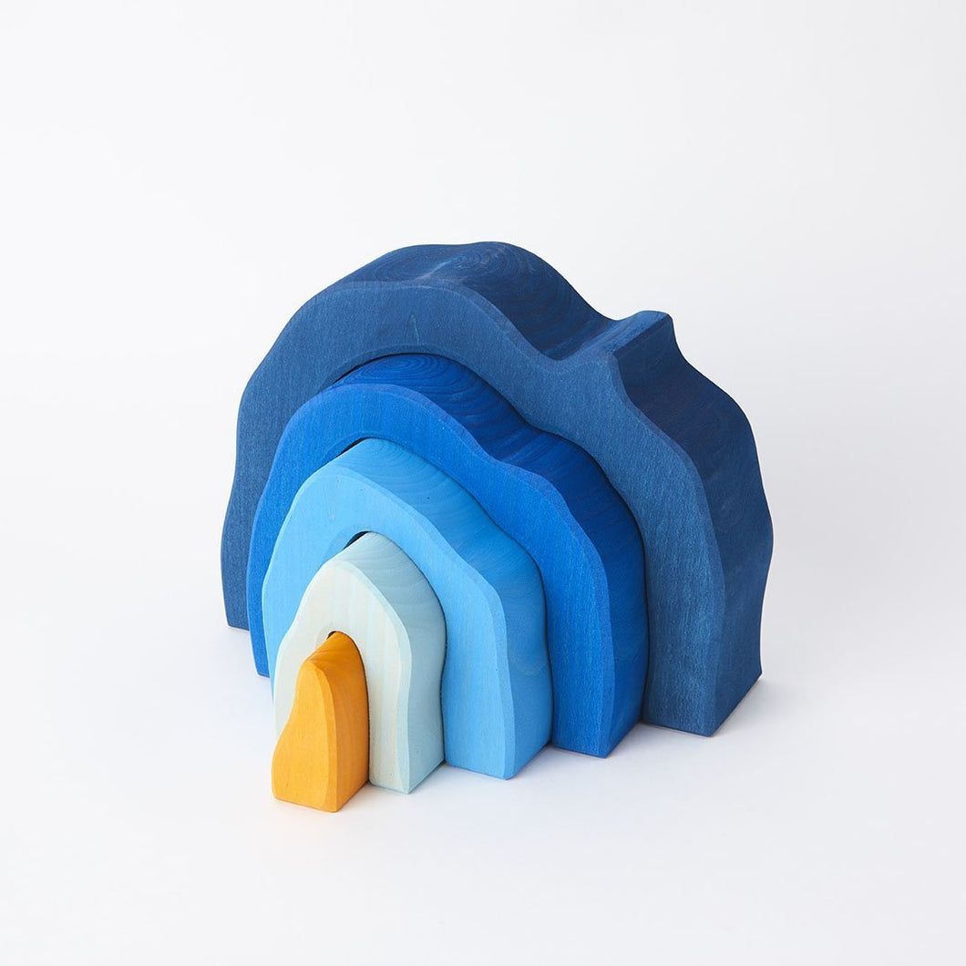 Gluckskafer - Blue Grotto (5 pieces) - Wood Wood Toys Canada's Favourite Montessori Toy Store