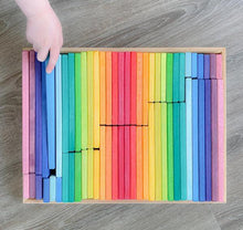 Load image into Gallery viewer, Gluckskafer - Building Slats (64 pieces) - Wood Wood Toys Canada's Favourite Montessori Toy Store