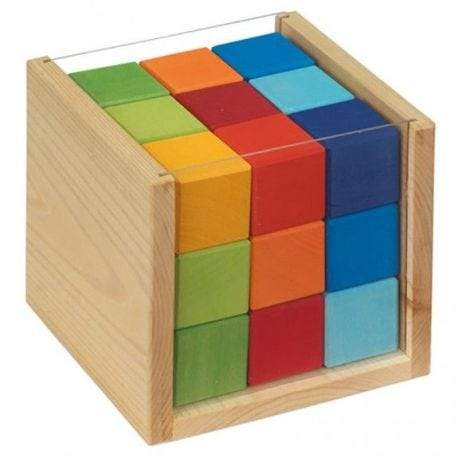 Gluckskafer - Coloured Wooden Cube Set - Wood Wood Toys Canada's Favourite Montessori Toy Store