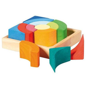 Gluckskafer - Construction Kit Circles Set - Wood Wood Toys Canada's Favourite Montessori Toy Store