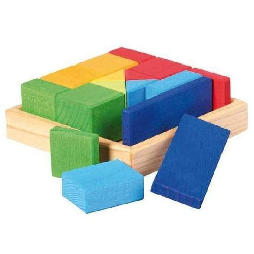 Gluckskafer - Construction Kit Shapes Set - Wood Wood Toys Canada's Favourite Montessori Toy Store