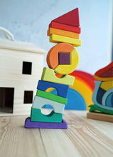 Load image into Gallery viewer, Gluckskafer - Crooked Tower - Wood Wood Toys Canada's Favourite Montessori Toy Store