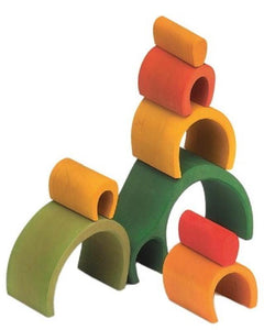 Gluckskafer - Green Arch House (8 pieces) - Wood Wood Toys Canada's Favourite Montessori Toy Store