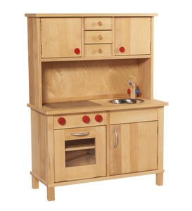 Gluckskafer Play Kitchen with Cuppboard - Wood Wood Toys Canada's Favourite Montessori Toy Store