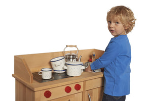 Gluckskafer Play Kitchen without Upper Structure - Wood Wood Toys Canada's Favourite Montessori Toy Store