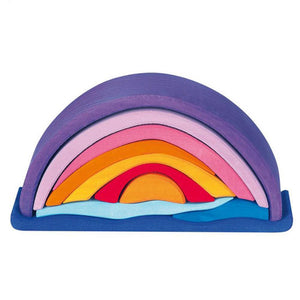 Gluckskafer - Purple Sunset Arch (16 pieces) - Wood Wood Toys Canada's Favourite Montessori Toy Store