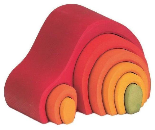 Gluckskafer - Red Arch House (8 pieces) - Wood Wood Toys Canada's Favourite Montessori Toy Store