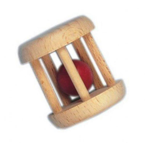 Gluckskafer - Wooden Cage Rattle with Ball - Wood Wood Toys Canada's Favourite Montessori Toy Store