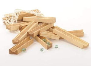Gluckskafer - Wooden Marble Run Track (23 Pieces) - Wood Wood Toys Canada's Favourite Montessori Toy Store