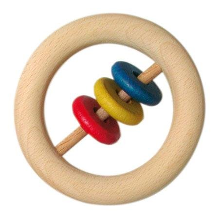 Gluckskafer - Wooden Rattle - Wood Wood Toys Canada's Favourite Montessori Toy Store