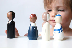 Goose Grease Wooden Peg Dolls - The Peace Makers - Wood Wood Toys Canada's Favourite Montessori Toy Store