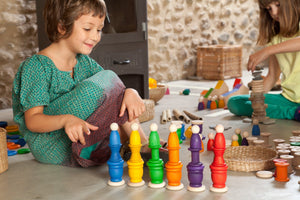 Grapat Wood Coloured Nins, Mates and Coins - Wood Wood Toys Canada's Favourite Montessori Toy Store