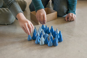 Grapat Wood Mandala Blue Raindrops (36 Pieces) - Wood Wood Toys Canada's Favourite Montessori Toy Store