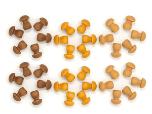 Grapat Wood Mandala Brown Mushrooms (36 Pieces) - Wood Wood Toys Canada's Favourite Montessori Toy Store