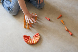 Grapat Wood Mandala Orange Cones (36 Pieces) - Wood Wood Toys Canada's Favourite Montessori Toy Store