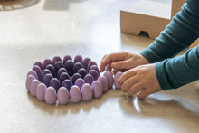 Load image into Gallery viewer, Grapat Wood Mandala Purple Eggs (36 Pieces) - Wood Wood Toys Canada's Favourite Montessori Toy Store