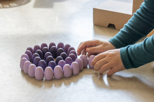 Grapat Wood Mandala Purple Eggs (36 Pieces) - Wood Wood Toys Canada's Favourite Montessori Toy Store