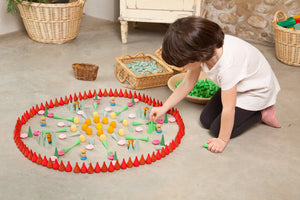 Grapat Wood Mandala Three Fires Pines (36 Pieces) - Wood Wood Toys Canada's Favourite Montessori Toy Store
