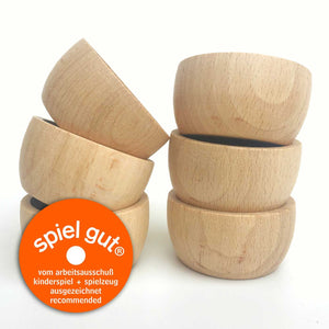 Grapat Wood Natural Bowls (6 Pieces) - Wood Wood Toys Canada's Favourite Montessori Toy Store