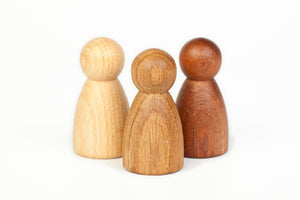 Grapat Wood Nins (3 Pieces) Beech Oak Sapeli - Wood Wood Toys Canada's Favourite Montessori Toy Store