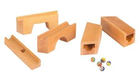 Guckskafer - Wooden Marble Run Bridge/Tunnel Set - Wood Wood Toys Canada's Favourite Montessori Toy Store