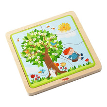 Load image into Gallery viewer, HABA 4 in 1 Wooden Puzzle My Time of The Year - Wood Wood Toys Canada's Favourite Montessori Toy Store