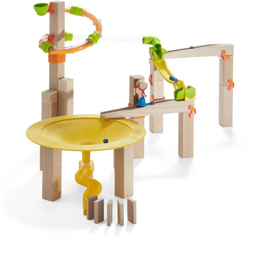 HABA Ball Track (Marble Run) Basic Pack Funnel Jungle Starter Set - Wood Wood Toys Canada's Favourite Montessori Toy Store