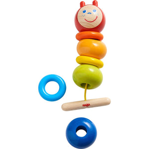 HABA Caterpillar Threading Game - Wood Wood Toys Canada's Favourite Montessori Toy Store