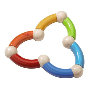 HABA Colour Snake Rattle Clutching Toy - Wood Wood Toys Canada's Favourite Montessori Toy Store