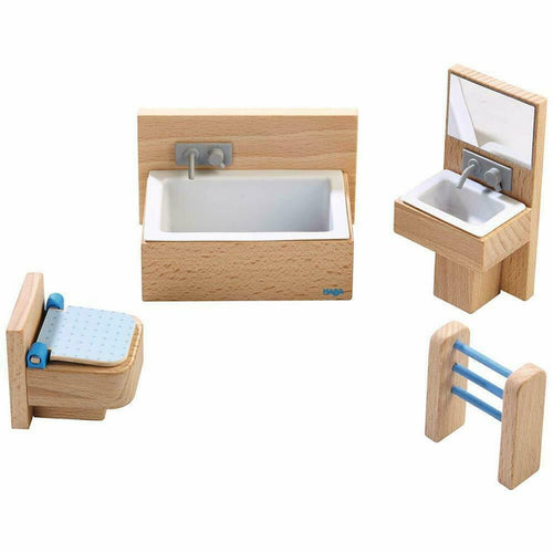 HABA Little Friends Bathroom - Miniature Play House Furniture - Wood Wood Toys Canada's Favourite Montessori Toy Store
