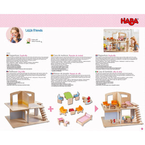 HABA Little Friends Dollhouse Town Villa - Wood Wood Toys Canada's Favourite Montessori Toy Store
