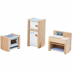 HABA Little Friends Kitchen - Miniature Play House Furniture - Wood Wood Toys Canada's Favourite Montessori Toy Store